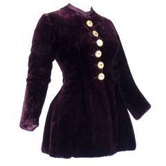 Victorian Heavy Burgundy Velvet Jacket