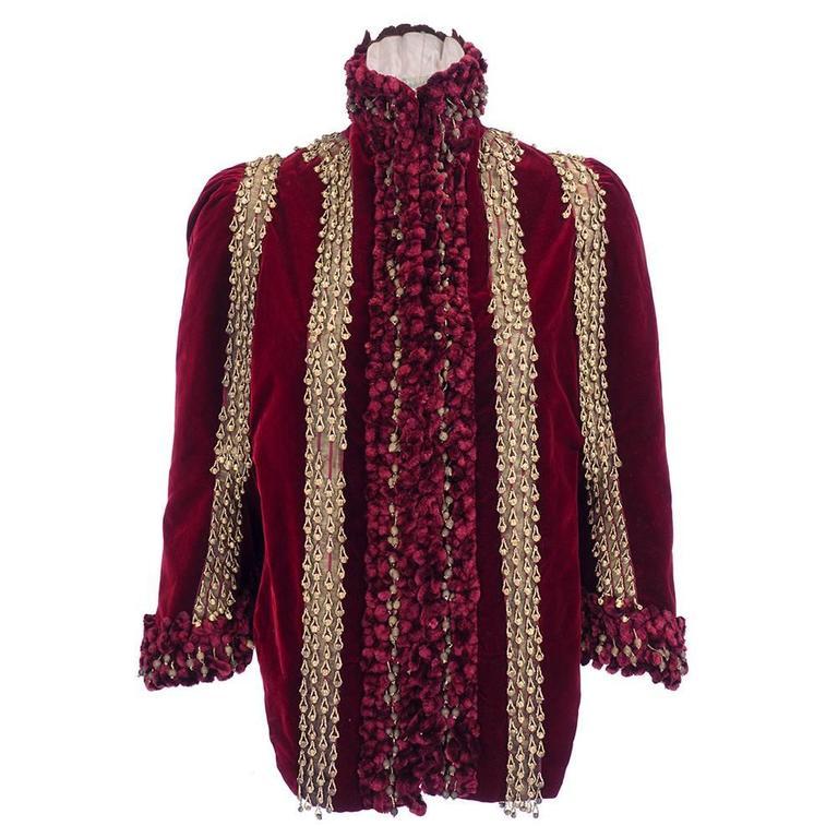 Victorian Burgundy Velvet Carriage Coat 1