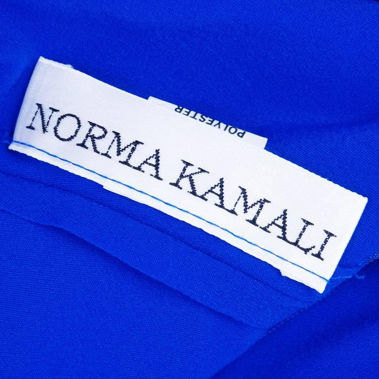 Norma Kamali 1990s Blue Jersey Dress  4