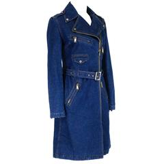 Late D&G Dolce and Gabbana Denim Trench Coat