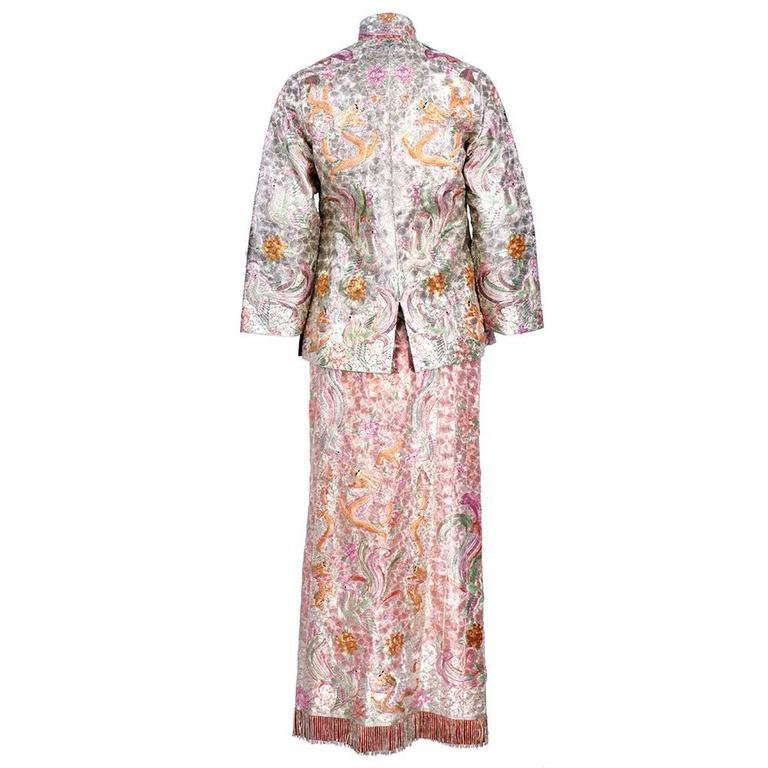 Asian Solid Couched Multi-Color Embroidered Ensemble 4