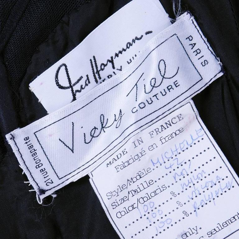Vicky Tiel 1980s Super Sexy Cocktail Dress 5
