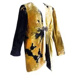 Marian Clayden / OBIKO 1980s Hand Dyed Velvet Jacket