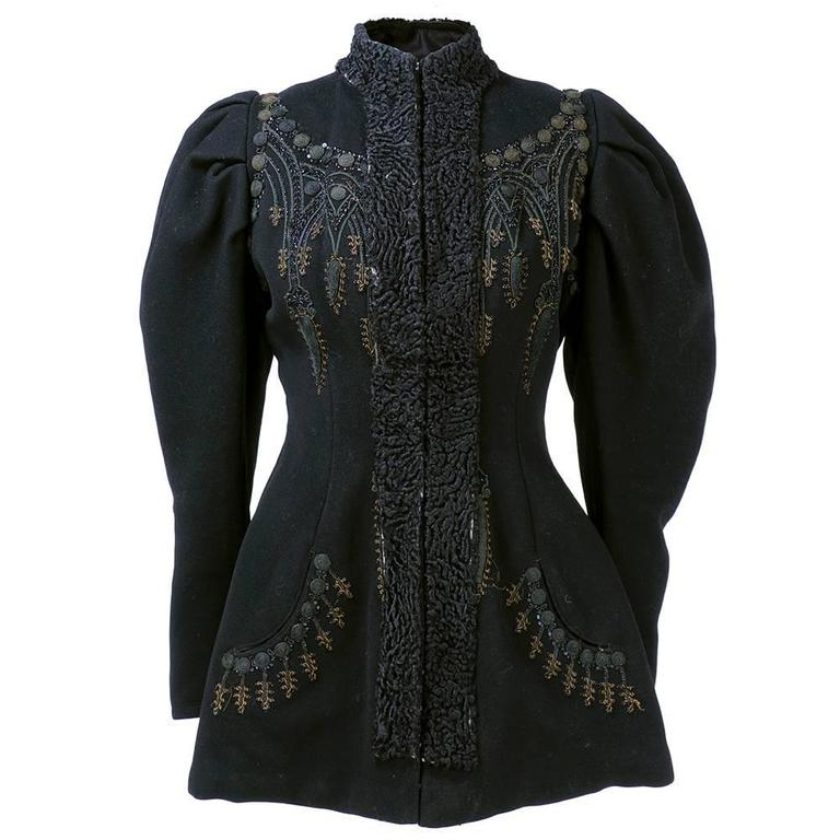 Victorian Leg of Mutton Sleeved Soutache Embroidered Jacket 3