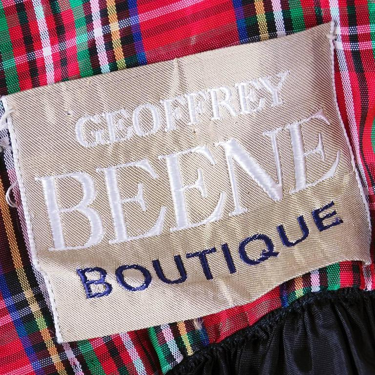 Geoffrey Beene Boutique Plaid Gown with Black Lace Overlay 4