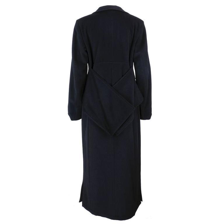 Dries Van Noten 90s Black Wool Coat 3