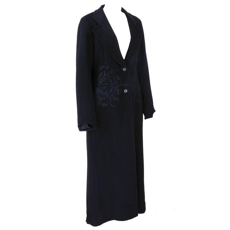 Dries Van Noten 90s Black Wool Coat 2