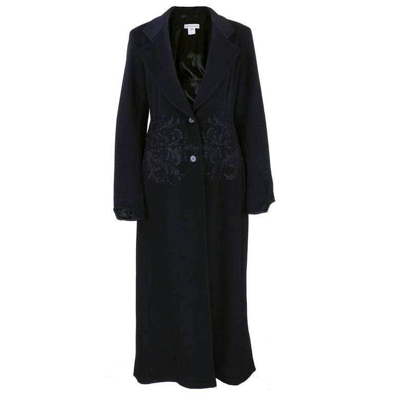 Dries Van Noten 90s Black Wool Coat 1