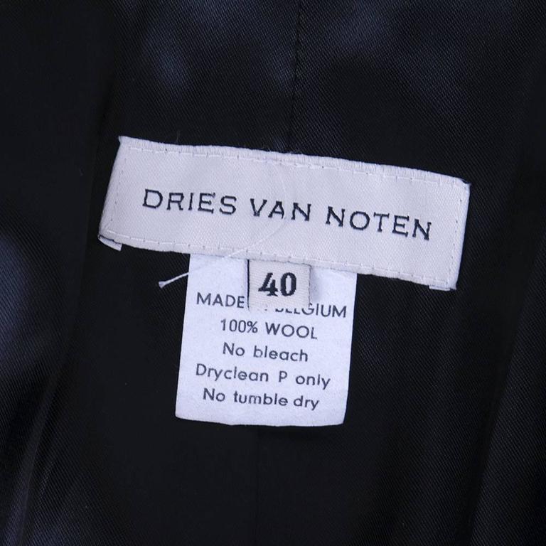 Dries Van Noten 90s Black Wool Coat 4