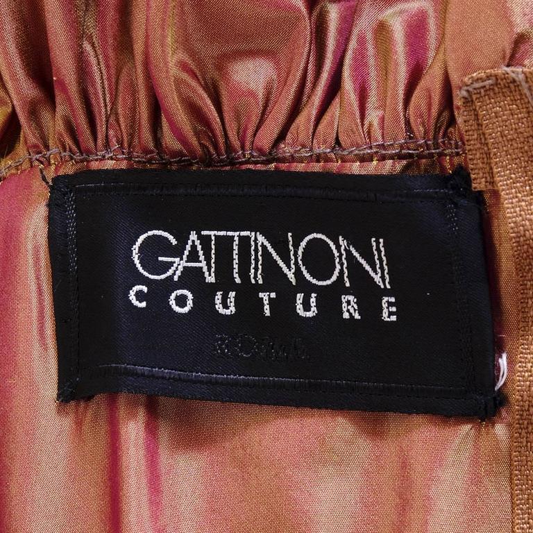 Gattinoni Couture 90s Extraordinary Ball Gown with Train 7