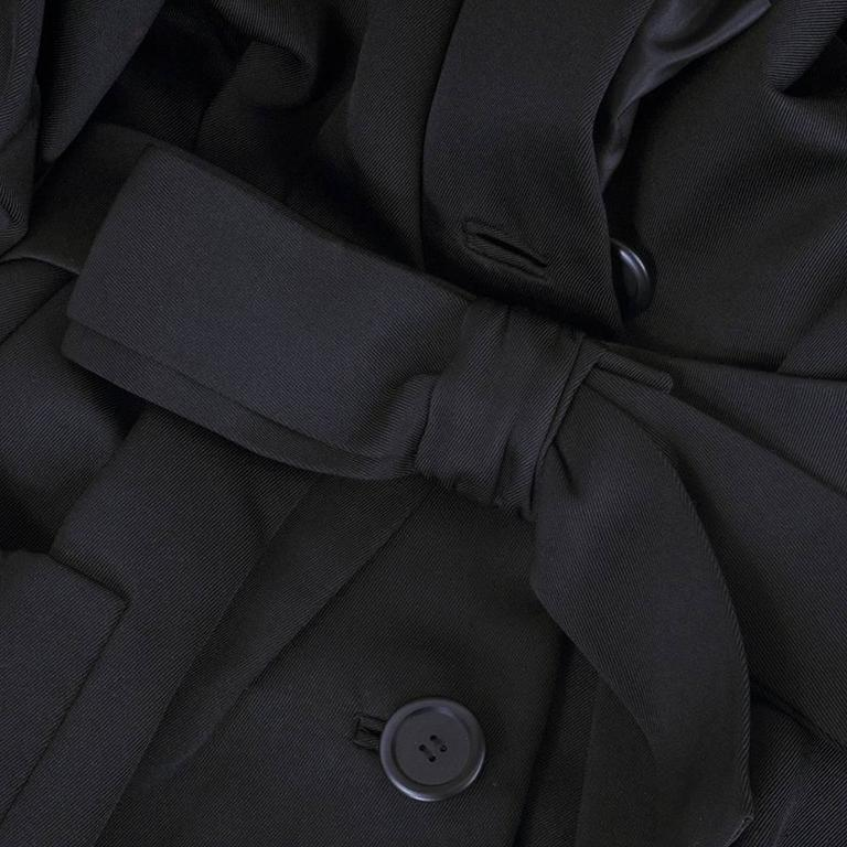 Christian Dior Haute Couture Spring/Summer 1959 Black Silk Faille Coat Dress  4