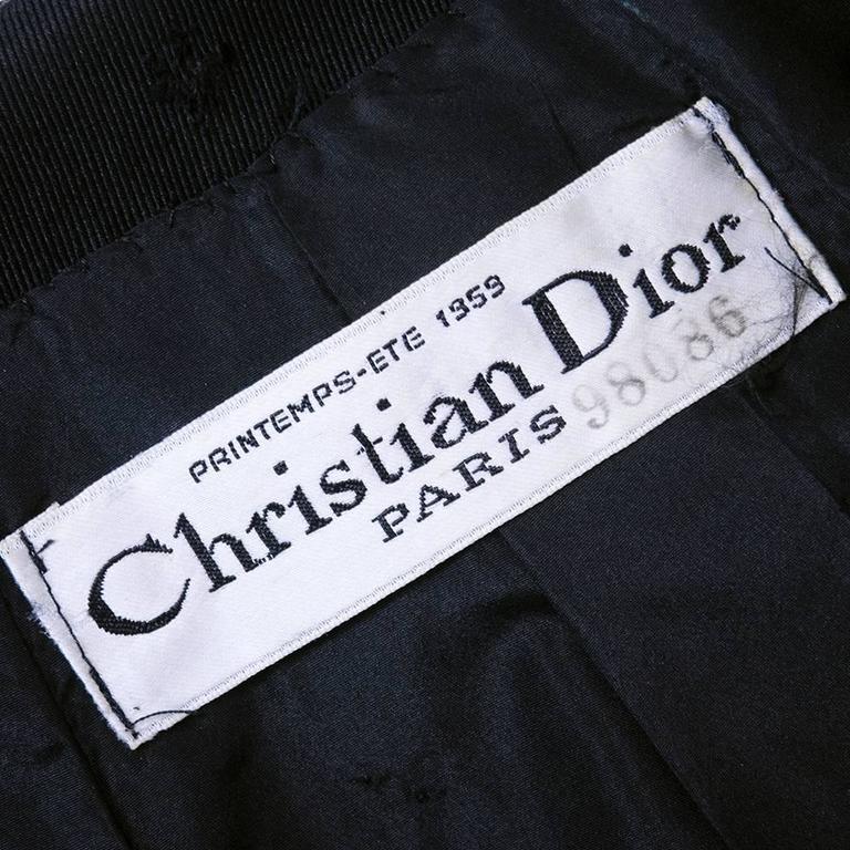 Christian Dior Haute Couture Spring/Summer 1959 Black Silk Faille Coat Dress  6
