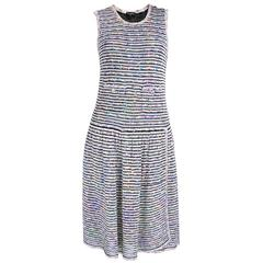 Chanel Nubby Woven Striped Summer Dress