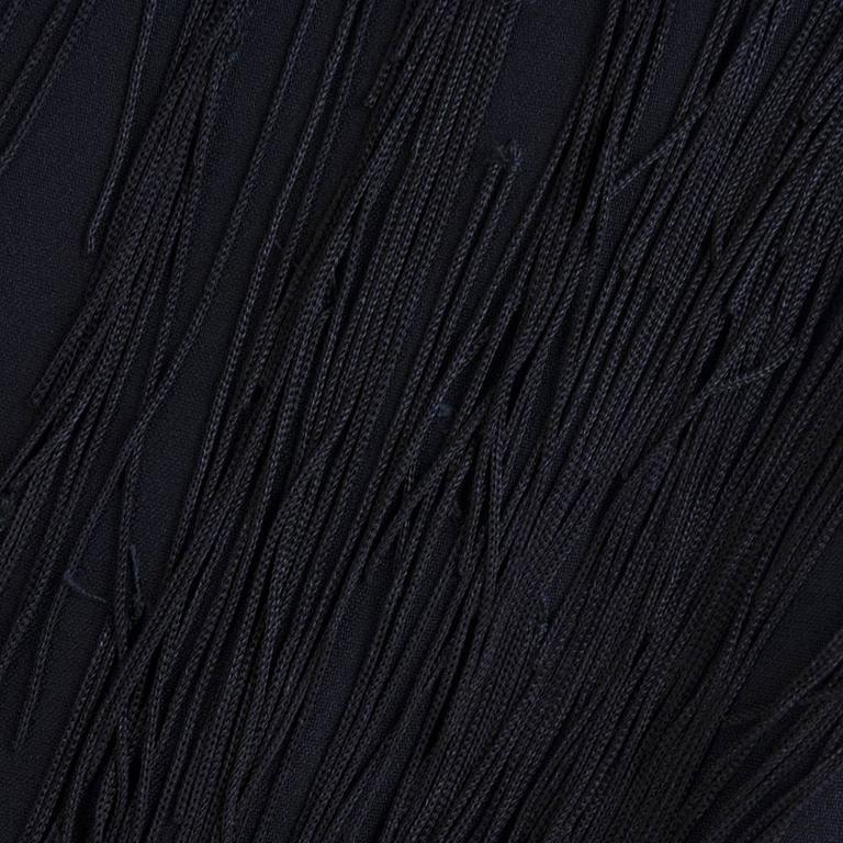 Moschino Couture 90s Long Fringed Black Skirt 5