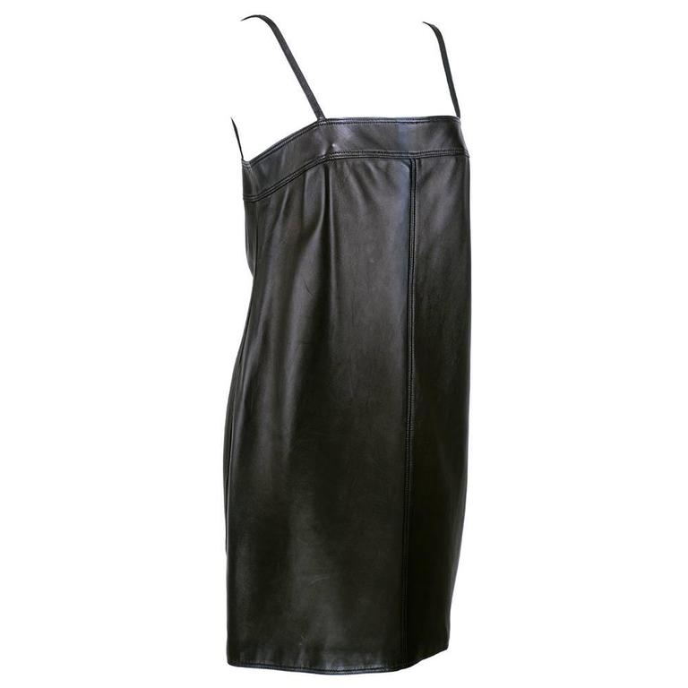 Gianni Versace Black Leather Dress - New with Tags 3