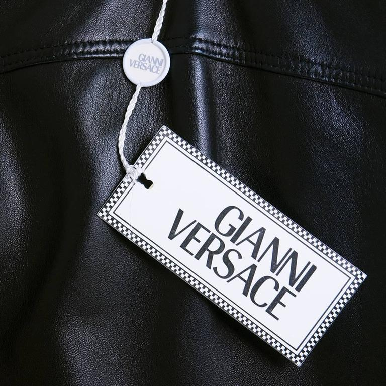 Gianni Versace Black Leather Dress - New with Tags 4