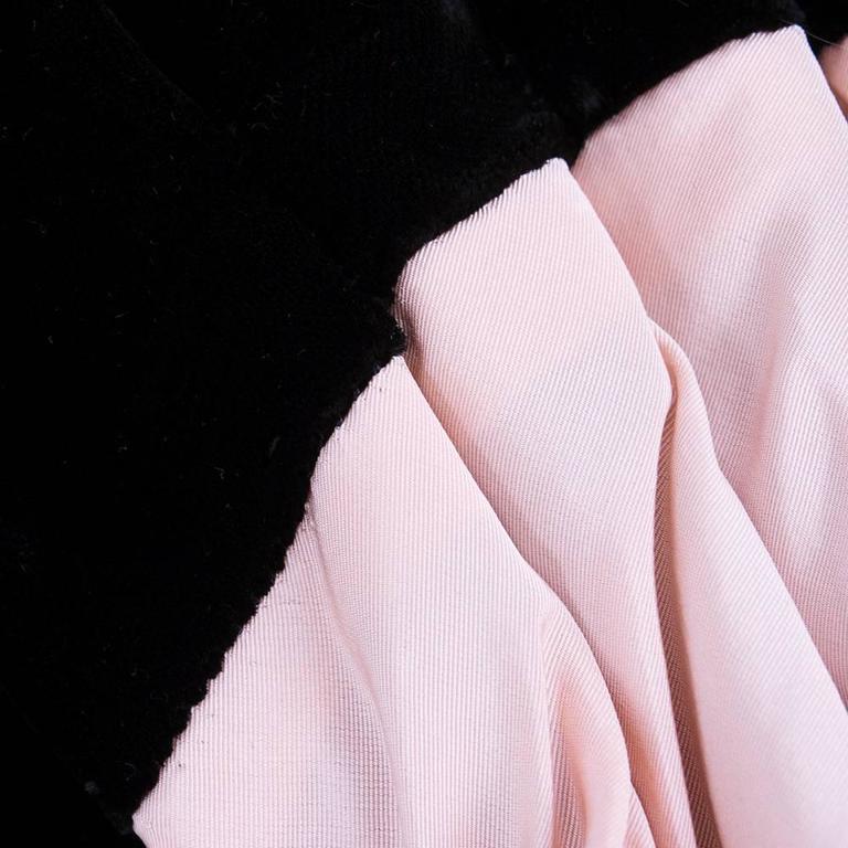Don Loper 1950s Black Velvet Coat Dress 6