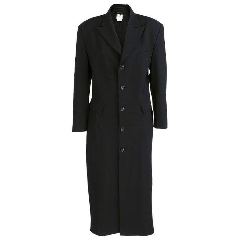 Comme des Garcons 90 Black Lightweight Coat 1