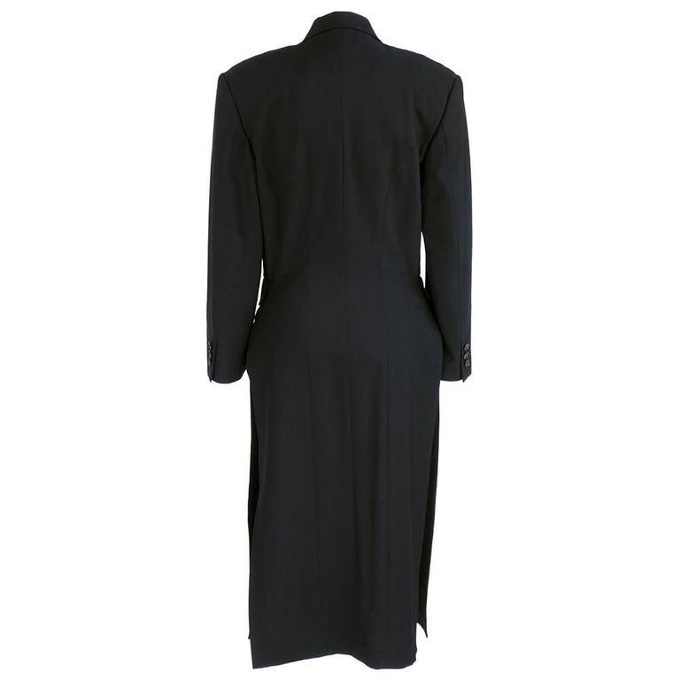 Comme des Garcons 90 Black Lightweight Coat 2
