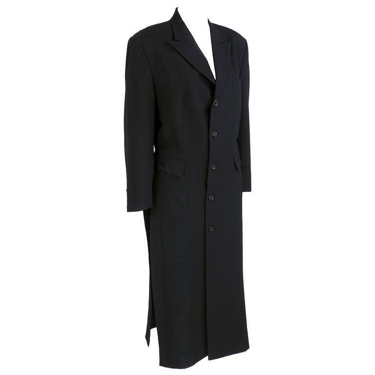 Comme des Garcons 90 Black Lightweight Coat 3