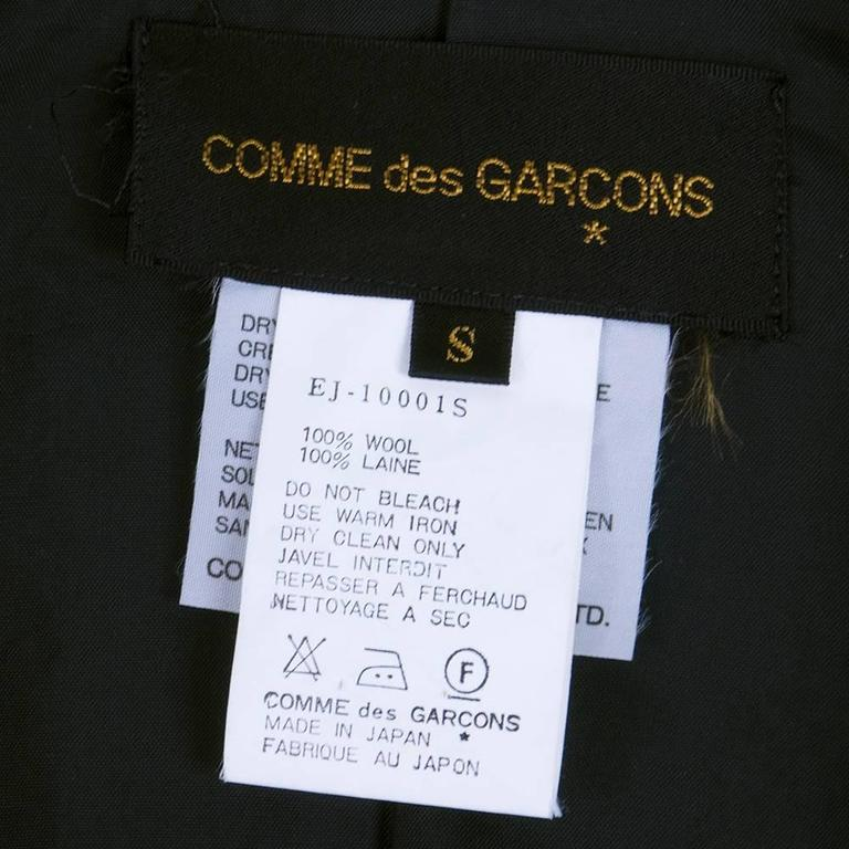 Comme des Garcons 90 Black Lightweight Coat 4