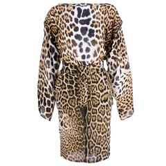 Yves Saint Laurent Early 2000s Leopard Ensemble