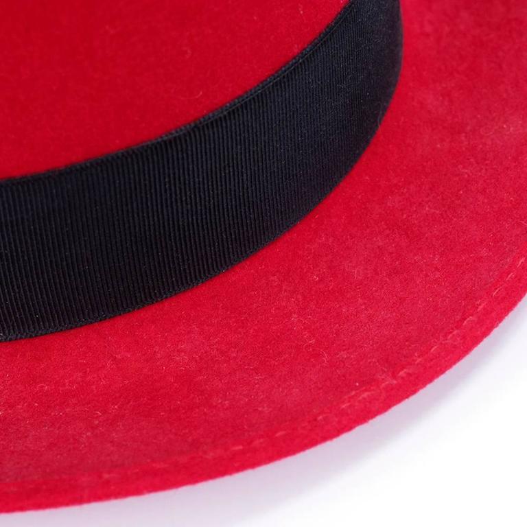 Kenzo 80s Red  Fedora 3
