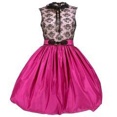 Mollie Parnis 80s Bubble Skirt Cocktail Dress