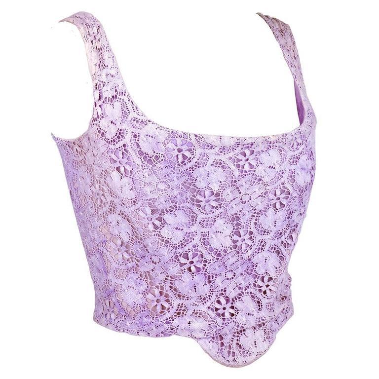 Vivienne Westwood 90s Lilac Lace Bustier 2