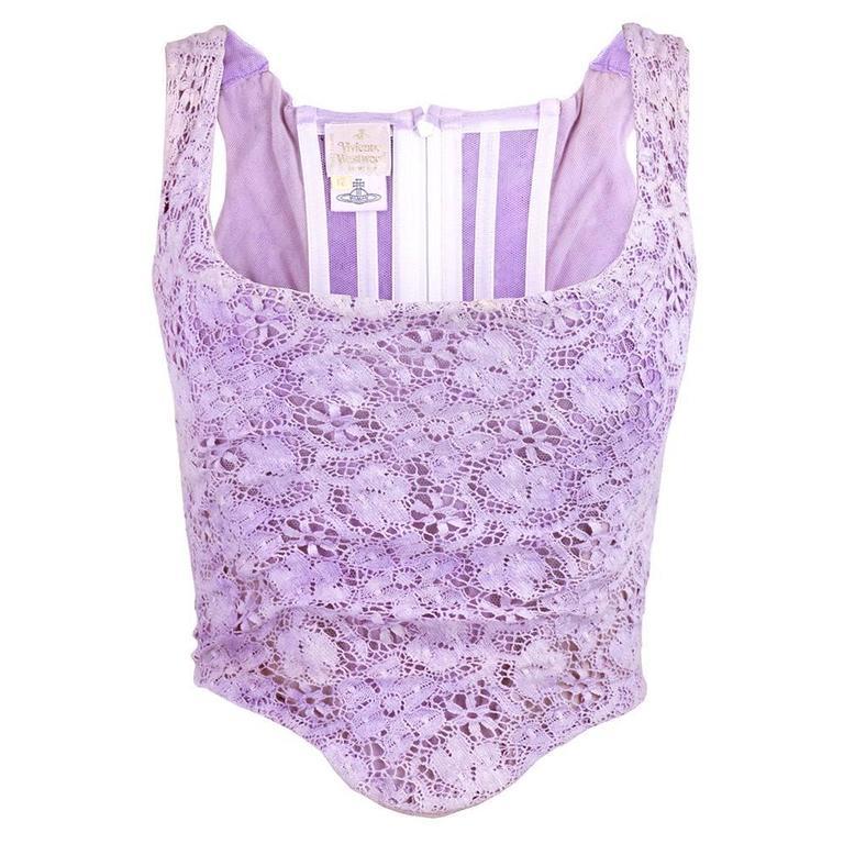 Vivienne Westwood 90s Lilac Lace Bustier 1