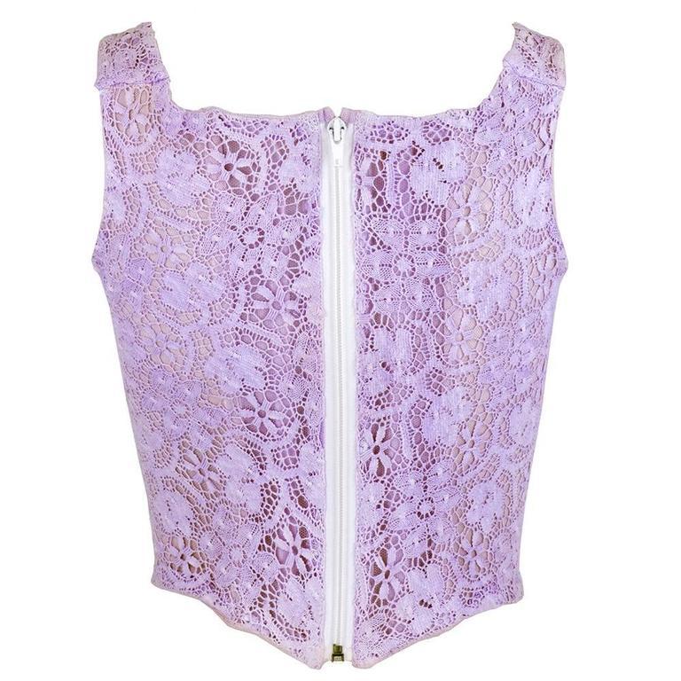 Vivienne Westwood 90s Lilac Lace Bustier 3