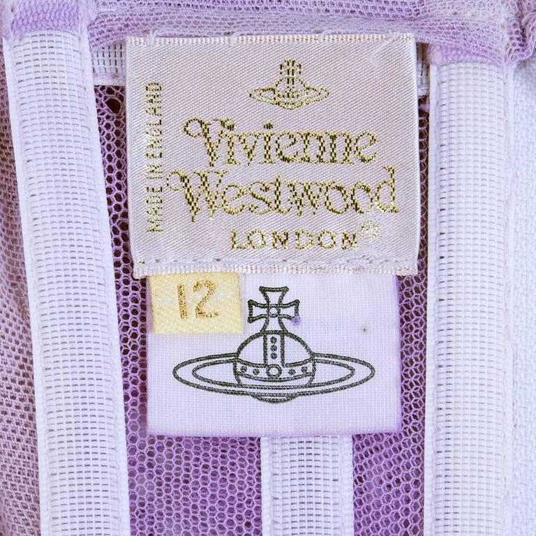 Vivienne Westwood 90s Lilac Lace Bustier 5