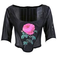 Westwood 90s Black Rose Bustier