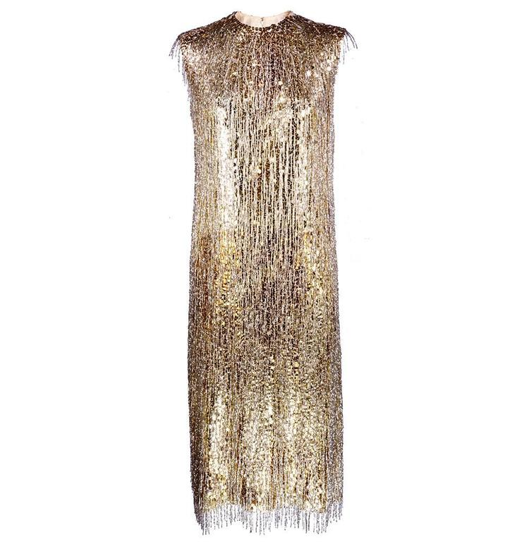 Norman Norell Attribution 1960s Beaded and Sequined Cocktail Dress 1