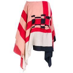 2003 Comme des Garçons Boiled Wool Avant Garde Skirt