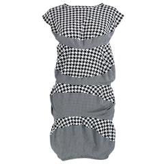 2009 Comme des Garcons Iconic Avant Garde Houndstooth Dress