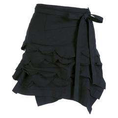 2004 des Garçons Wrap Skirt with Scalloped Edges