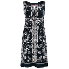 2000s Christian Lacroix Little Black Embroidered Dress