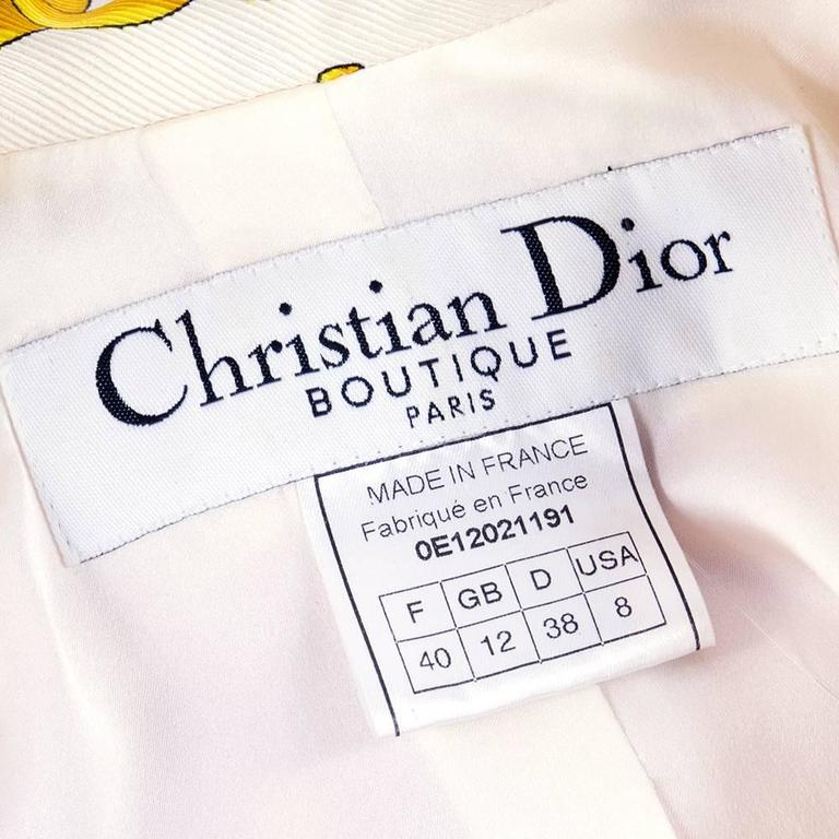 Christian Dior Boutique Equestrian Theme Cropped Silk Twill Jacket 4