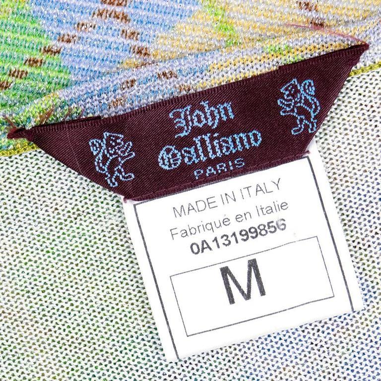 Galliano 90s Green Plaid Gown w/Cardigan 5