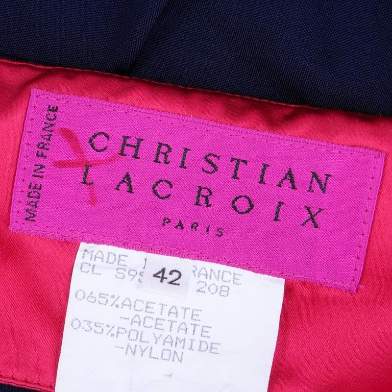 90s Christian Lacroix Blue jersey Body Con Dress with Studs 4