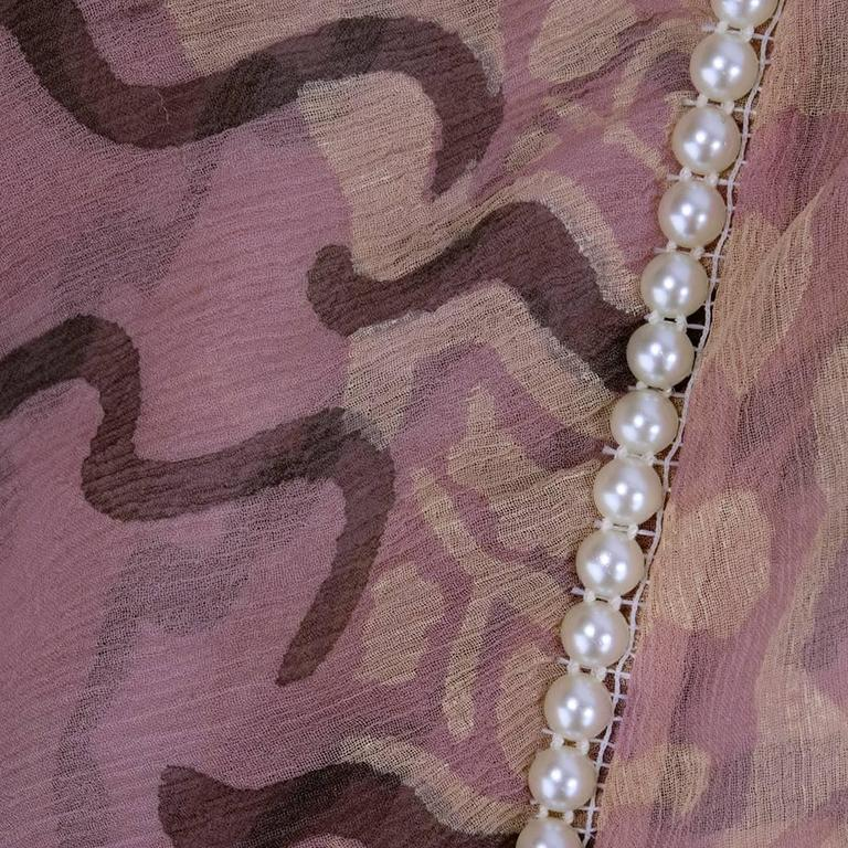80s Zandra Rhodes Chiffon Top with Pearls 6
