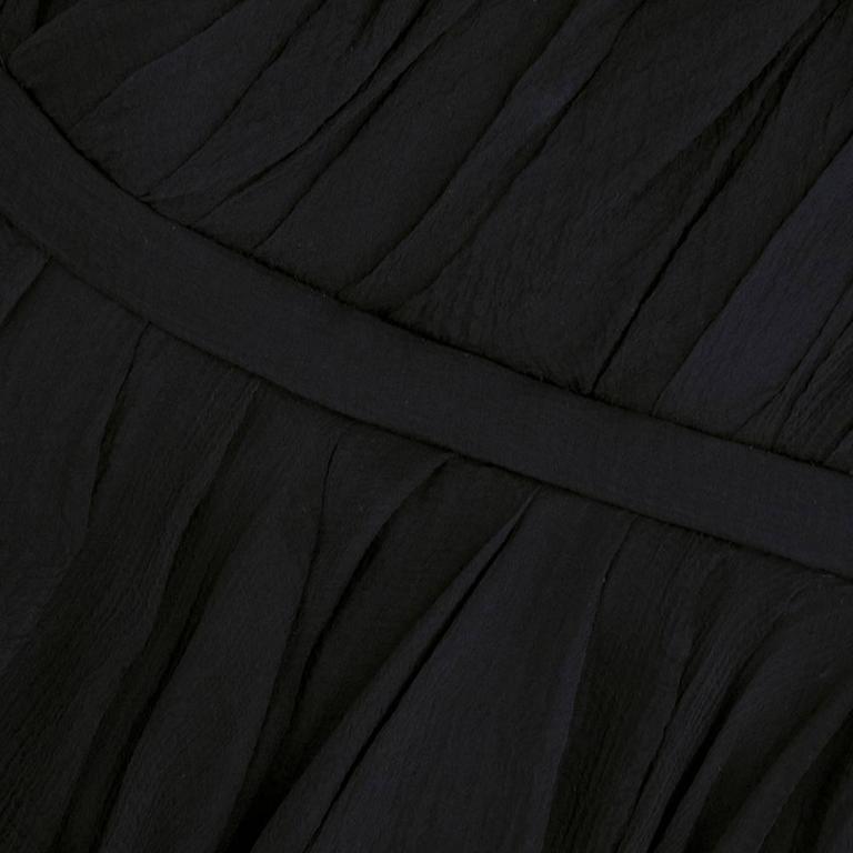 Alexander McQueen Black Chiffon 50s Style Cocktail Dress 4