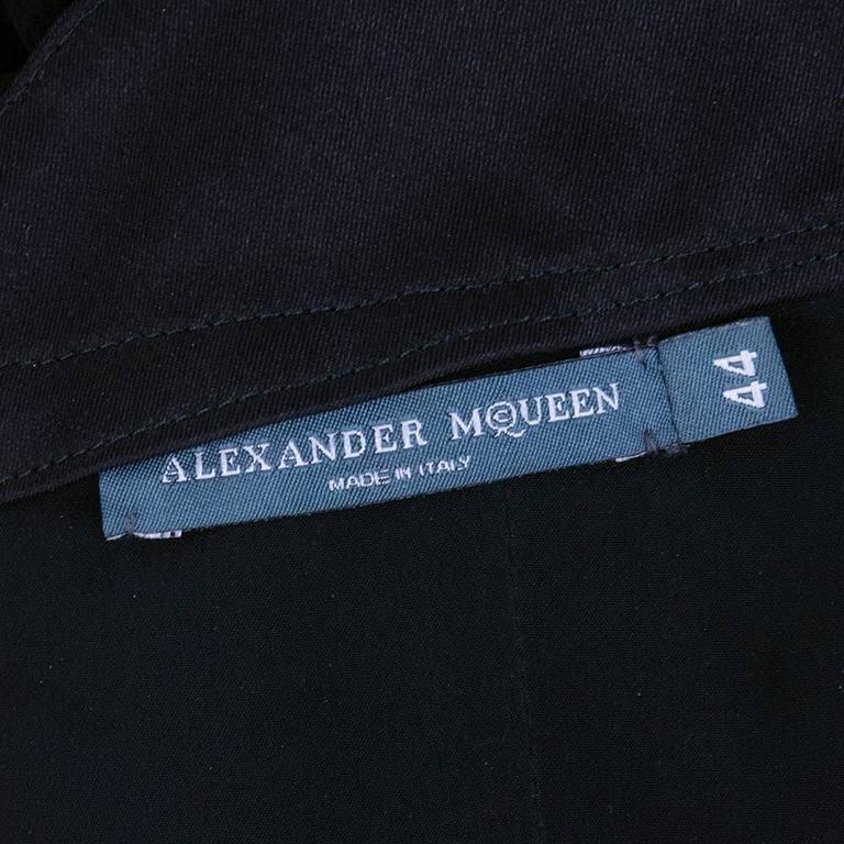 Alexander McQueen Black Chiffon 50s Style Cocktail Dress 6