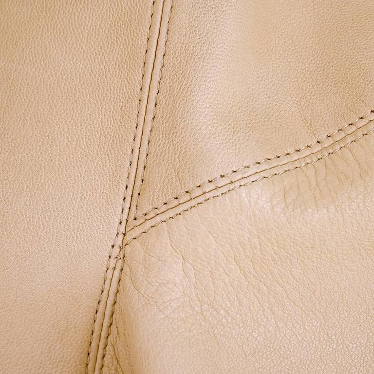 90s Alaia Oversized Nude Leather Jacket  6