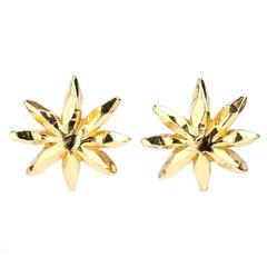 90s Christian Lacroix Large Abstract Flower Earrings