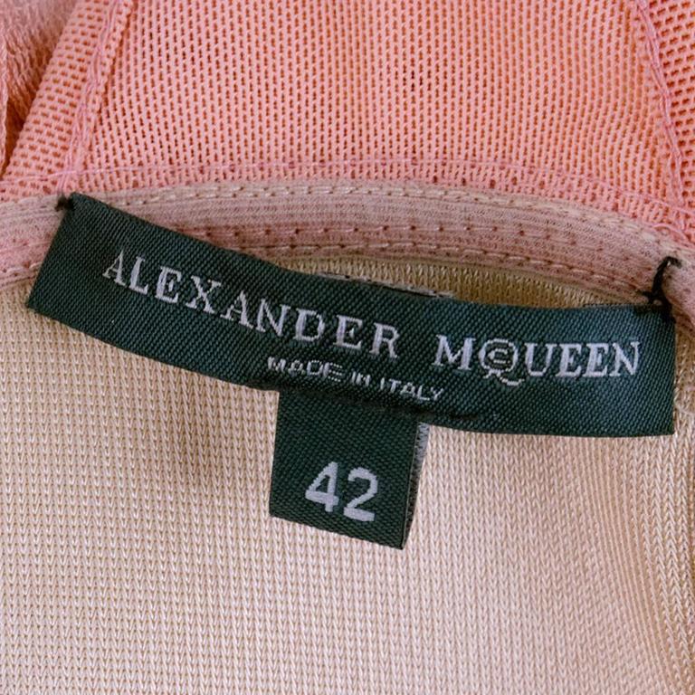 90s Alexander McQueen Pink Satin Bias Gown 4