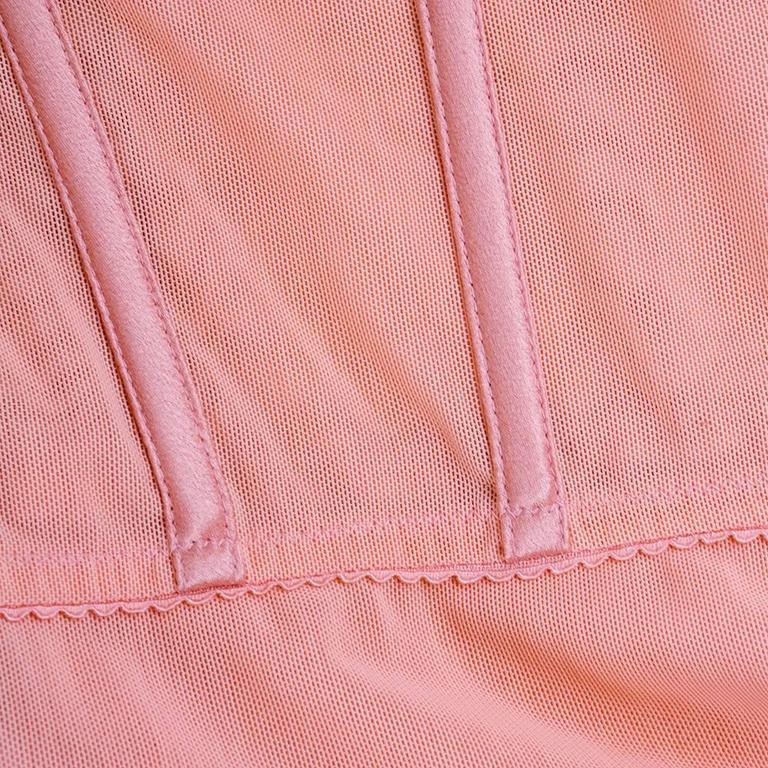 90s Alexander McQueen Pink Satin Bias Gown 6