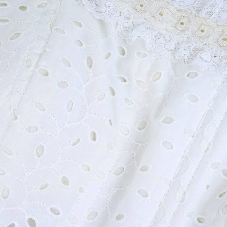 2000s Oscar de la Renta Gown with Tiered Ruffled Chiffon Skirt 4