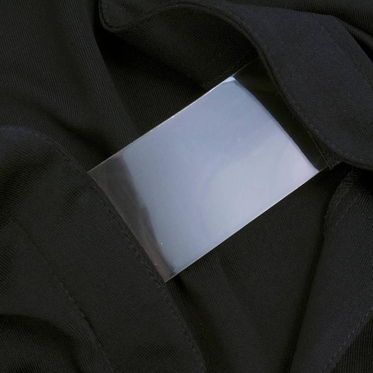 90s Thierry Mugler Black Matte Jersey Modernist Dress 5